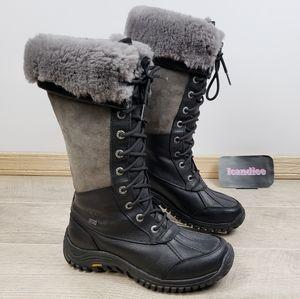 UGG Adirondack Tall Boot Black Grey Leather Snow